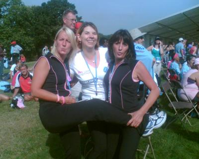 Me on the right with Jackie and Caroline my walking pals